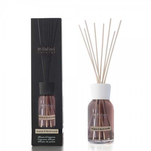 Millefiori Natural «Incense & Blond Woods» Parfum d'ambiance 500ml