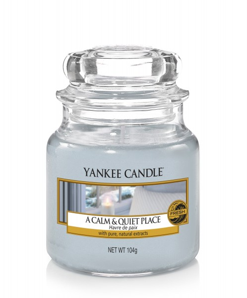 Yankee Candle Duftkerze «A calm & quiet Place» klein (small Jar 104g)