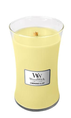 WoodWick «Citronnelle & lys» Bougie Parfumée grande