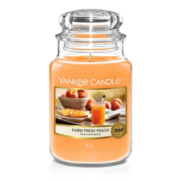 Yankee Candle «Pêche savoureuse» Bougie Parfumée grande