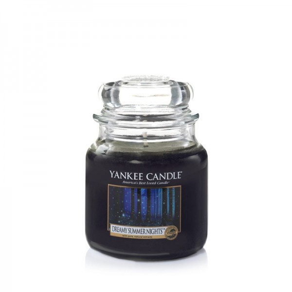 Yankee Candle Duftkerze «Dreamy Summer Nights» mittel (medium Jar 411g)