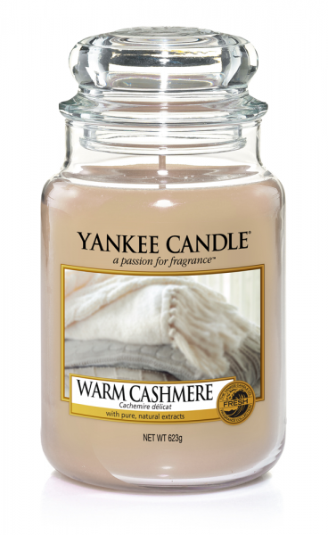 Yankee Candle Duftkerze «Warm Cashmere» gross (large Jar 623g)