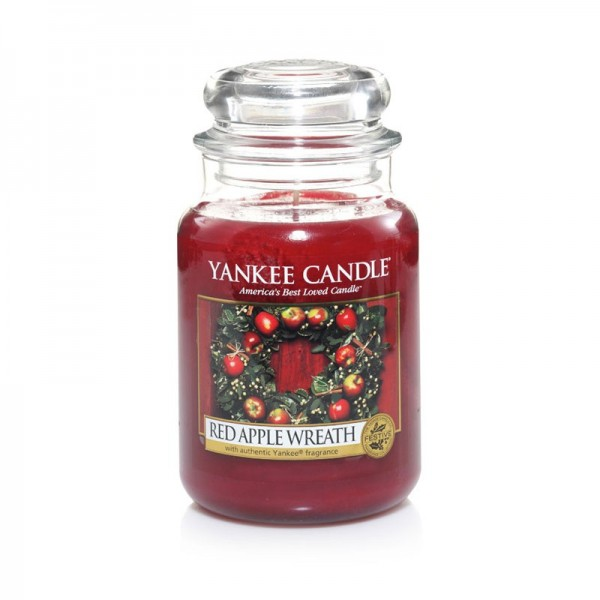 Yankee Candle Duftkerze «Red Apple Wreath» gross (large Jar 623g)