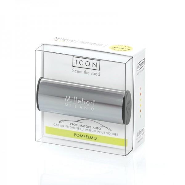 Millefiori Autoduft ICON Metallo «Pompelmo» Anthrazit glänzend