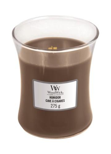 WoodWick «Cave à Cigares» Bougie Parfumée moyenne