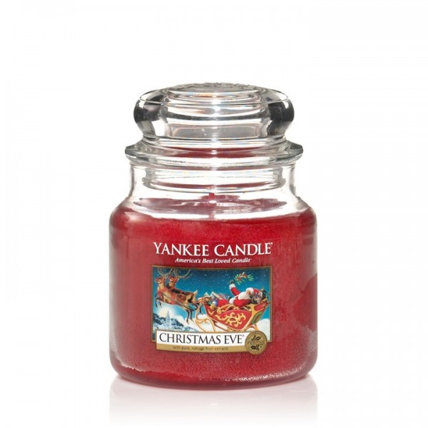 Yankee Candle Duftkerze «Christmas Eve» mittel (medium Jar 411g)