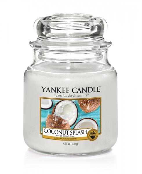 Yankee Candle Duftkerze «Coconut Splash» mittel (medium Jar 411g)
