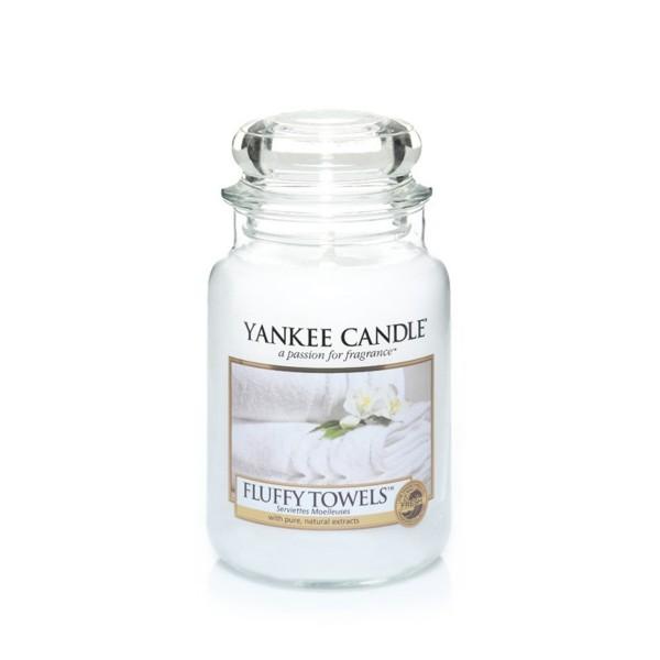 Yankee Candle Duftkerze «Fluffy Towels » gross (large Jar 623g)