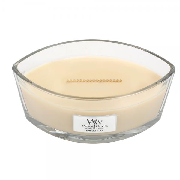 Woodwick «Gousse de vanille» Bougie Parfumée Ellipse
