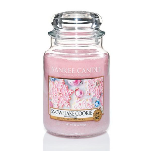 Yankee Candle Duftkerze «Snowflake Cookie» gross (large Jar 623g)