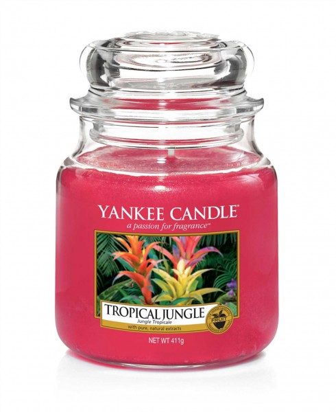 Yankee Candle Duftkerze «Tropical Jungle» mittel (medium Jar 411g)