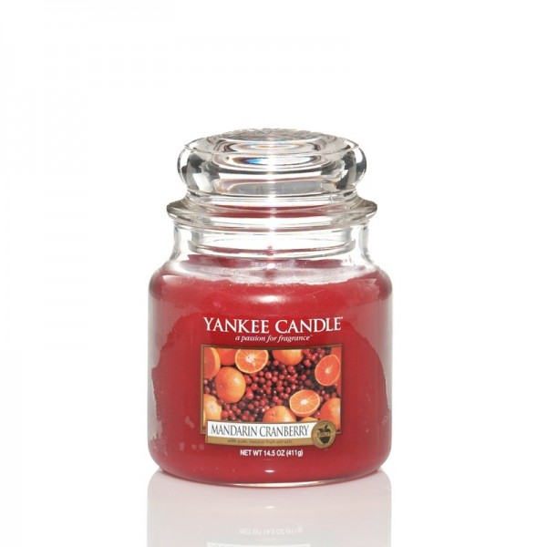 Yankee Candle Duftkerze «Mandarin Cranberry» mittel (medium Jar 411g)