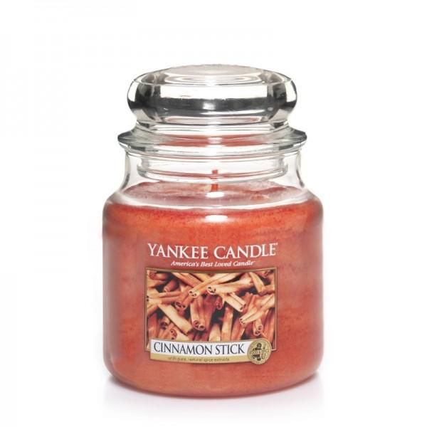 Yankee Candle Duftkerze «Cinnamon Stick» mittel (medium Jar 411g)