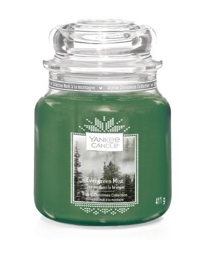 Yankee Candle «Sapins dans la brume» Bougie Parfumée moyenne