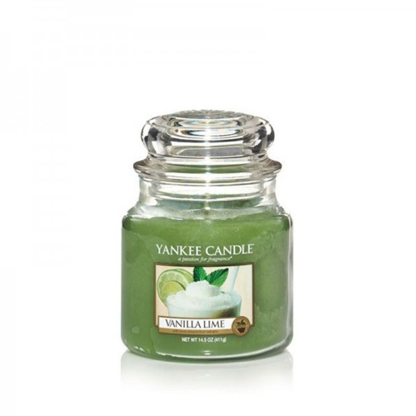 Yankee Candle Duftkerze «Vanilla Lime» mittel (medium Jar 411g)