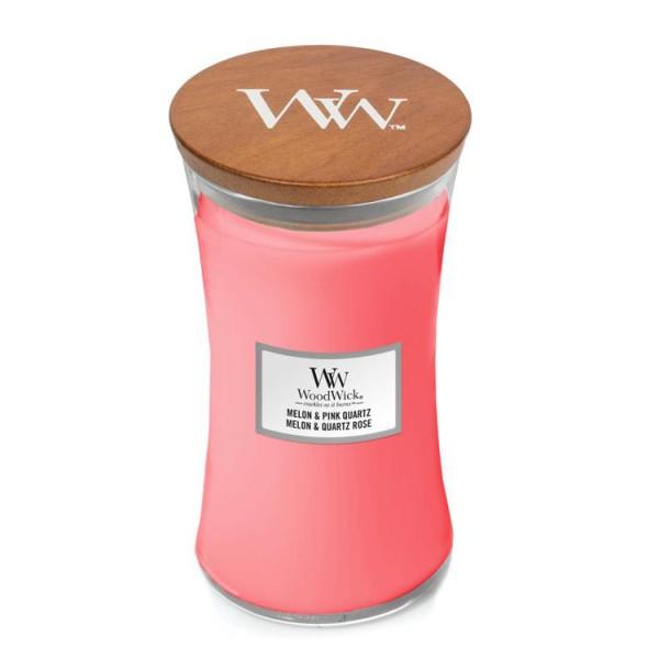 WoodWick Duftkerze «Melon & Pink Quartz» gross