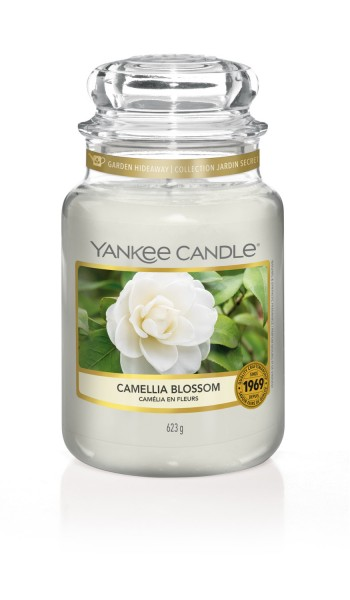 Yankee Candle «Camélia en fleurs» Bougie Parfumée grande