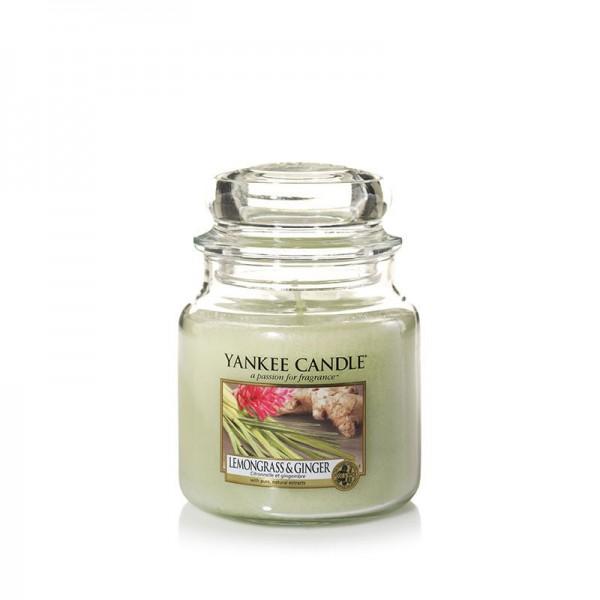 Yankee Candle Duftkerze «Lemongrass & Ginger» mittel (medium Jar 411g)