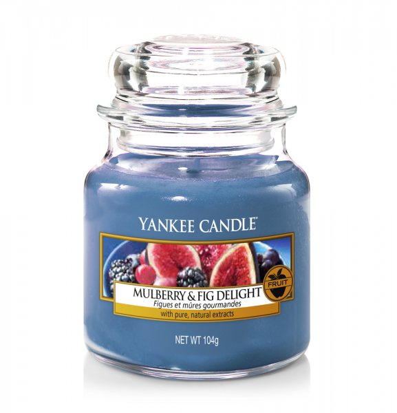 Yankee Candle Duftkerze «Mulberry & Fig Delight» klein (small Jar 104g)