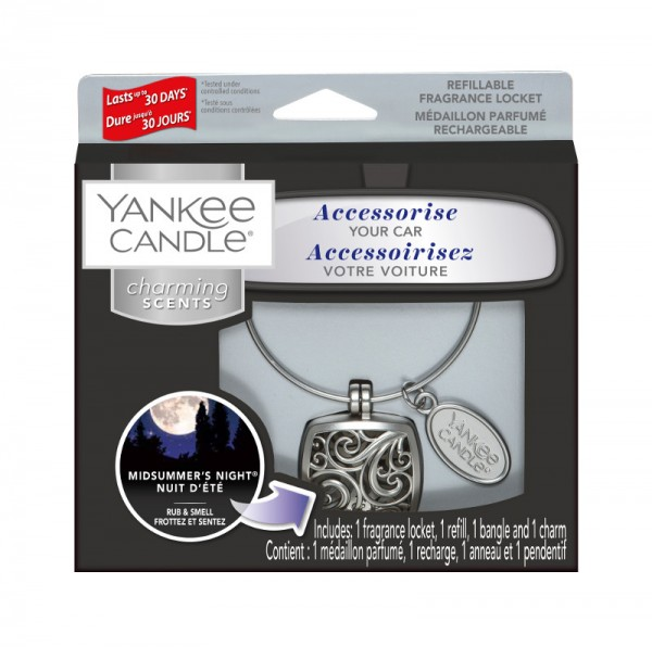 Yankee Candle Autoduft «Midsummer's Night Square» Charming Scents, Starter Kit