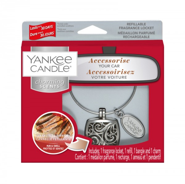 Yankee Candle Autoduft «Sparkling Cinnamon Square» Charming Scents, Starter Kit