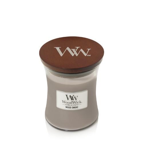 WoodWick Duftkerze «Wood Smoke» mittel