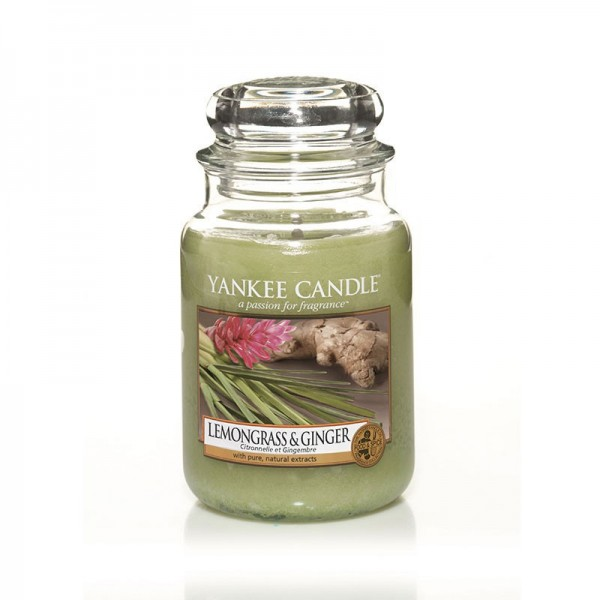 Yankee Candle Duftkerze «Lemongrass & Ginger» gross (large Jar 623g)