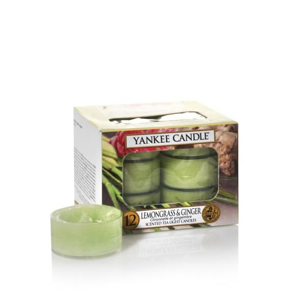 Yankee Candle Teelichter «Lemongrass & Ginger» 12 Stück