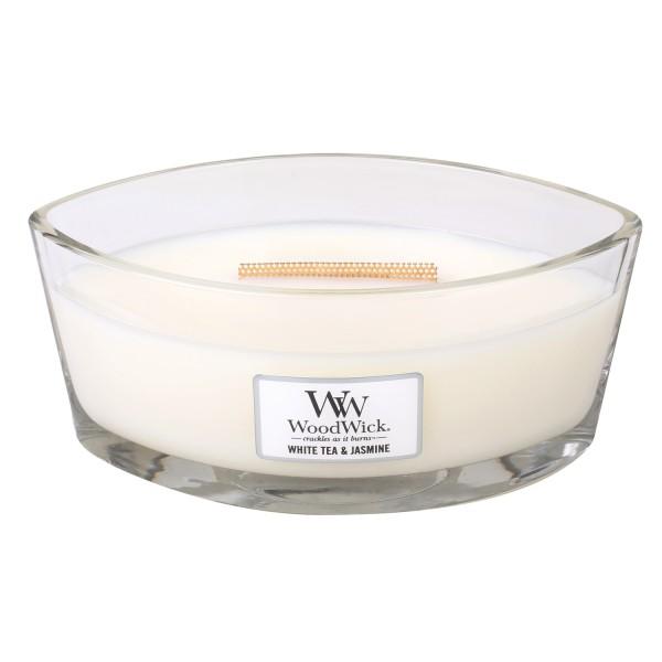 WoodWick Duftkerze «White Tea & Jasmin» Ellipse