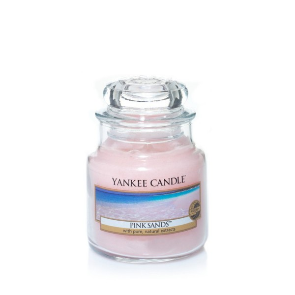 Yankee Candle Duftkerze «Pink Sands» mittel (medium Jar 411g)