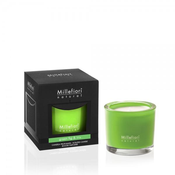 Millefiori Duftkerze Natural «Green Fig & Iris» 180gr