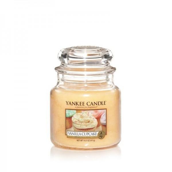 Yankee Candle Duftkerze «Vanilla Cupcake» mittel (medium Jar 411g)