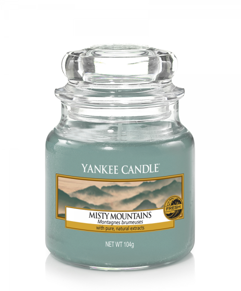 Yankee Candle Duftkerze «Misty Mountains» klein (small Jar 104g)