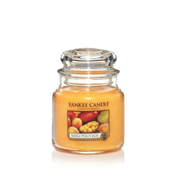 Yankee Candle Duftkerze «Mango Peach Salsa» mittel (medium Jar 411g)