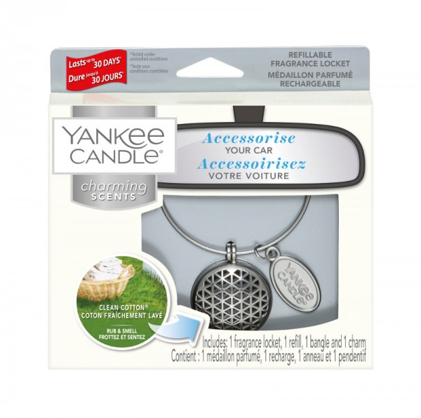 Yankee Candle Autoduft «Clean Cotton Geometric» Charming Scents, Starter Kit