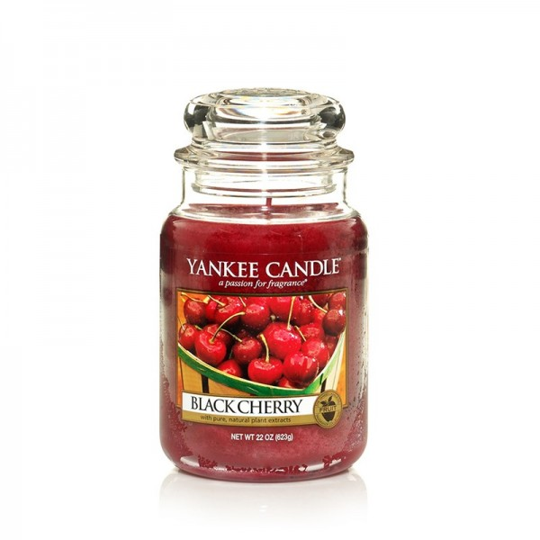 Yankee Candle Duftkerze «Black Cherry» gross (large Jar 623g)