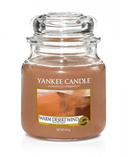 Yankee Candle Duftkerze «Warm Desert Wind» mittel (medium Jar 411g)