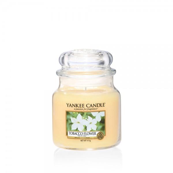 Yankee Candle Duftkerze «Tobacco Flower» mittel (medium Jar 411g)