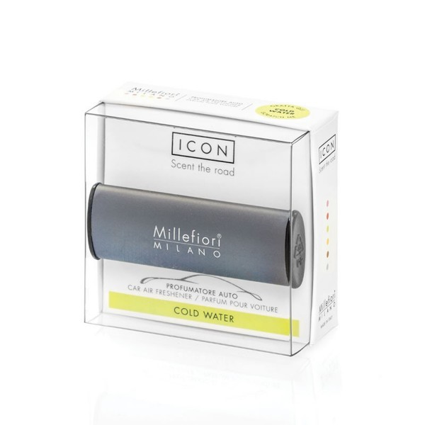 Millefiori Autoduft ICON Classic «Cold Water» Dunkelgrau