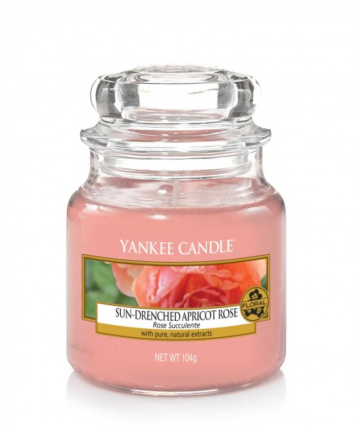 Yankee Candle Duftkerze «Sun-Drenched Apricot Rose» klein (small Jar 104g)