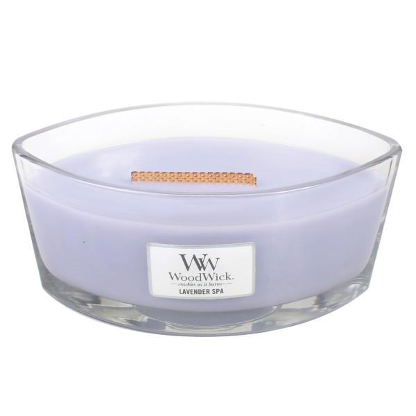 Woodwick «Lavande relaxante» Bougie Parfumée Ellipse