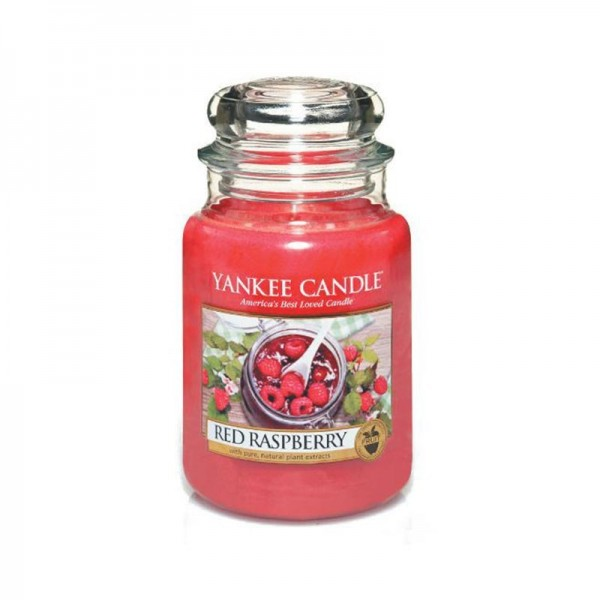 Yankee Candle Duftkerze «Red Raspberry» gross (large Jar 623g)