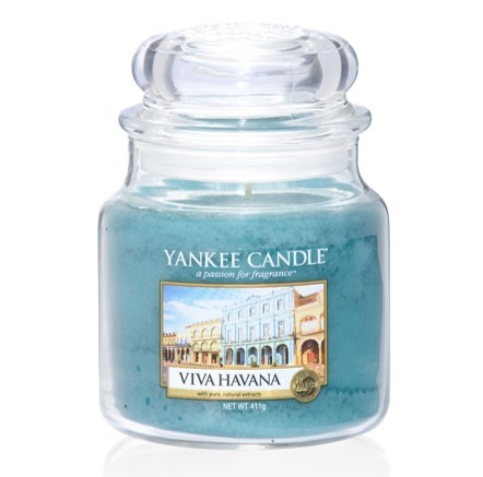 Yankee Candle Duftkerze «Viva Havana» mittel (medium Jar 411g)