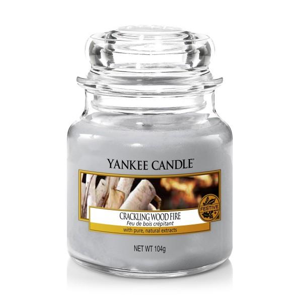 Yankee Candle Duftkerze «Crackling Wood Fire» klein (small Jar 104g)