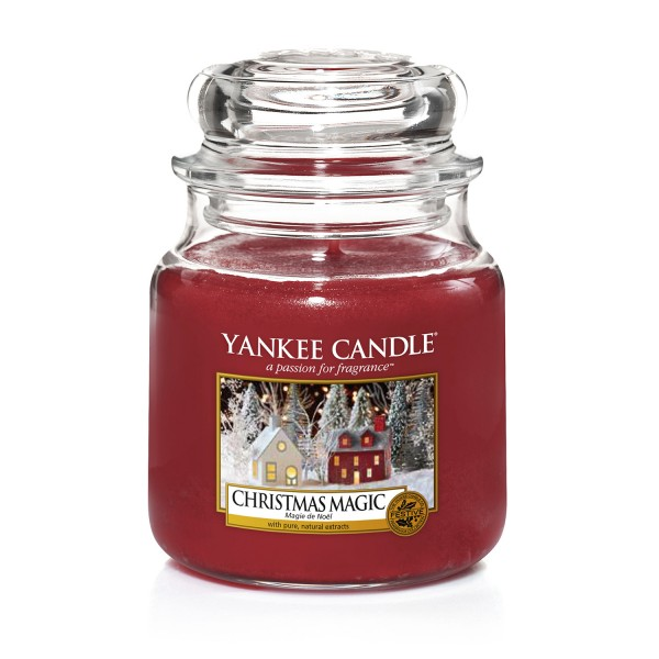 Yankee Candle Duftkerze «Christmas Magic» mittel (medium Jar 411g)