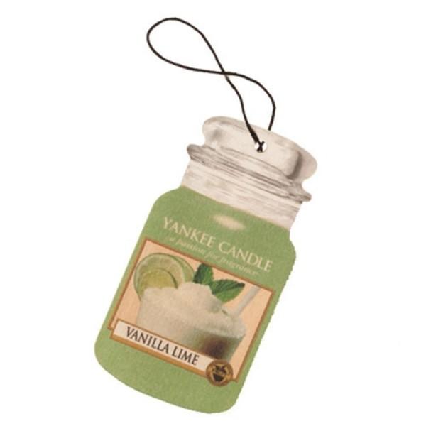 Yankee Candle Car Jar Karton «Vanille Citron Vert» Parfum pour voiture