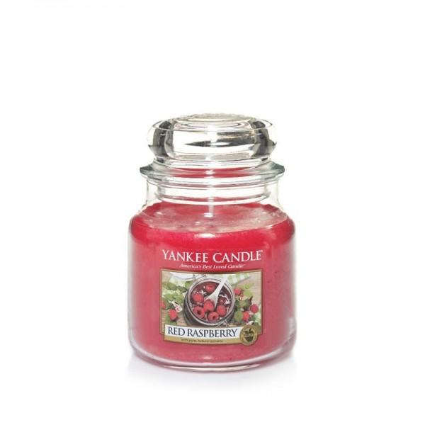 Yankee Candle Duftkerze «Red Raspberry» mittel (medium Jar 411g)