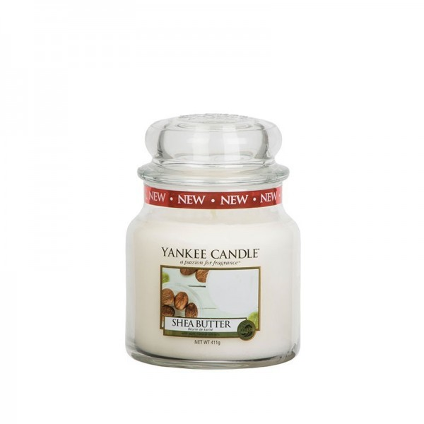 Yankee Candle Duftkerze «Shea Butter» mittel (medium Jar 411g)
