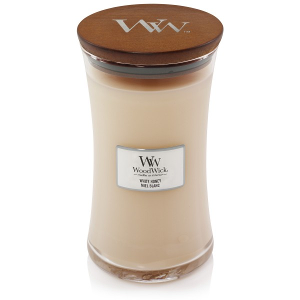 WoodWick Duftkerze «White Honey» gross