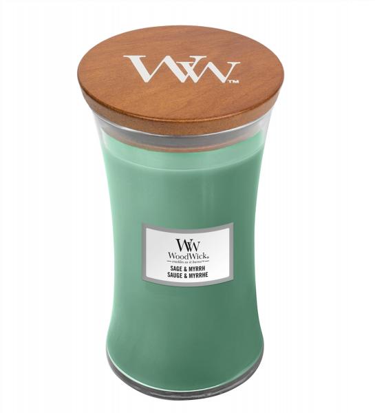 WoodWick Duftkerze «Sage & Myrrh» gross